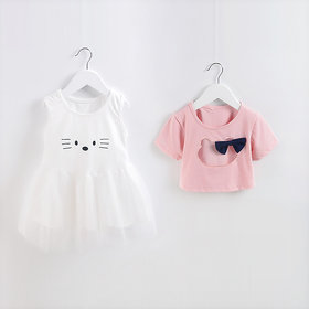 Zifuu designer pink top dress