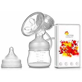 CREW4 Silicon Electric Breast Feeding Pump Milk Bottle Nipple for Baby