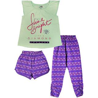 Ventra 3-Piece Kids Girls Shine Night Suit