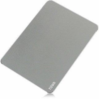 Tizum Aluminium Mousepad - Anti-Skid Intensive Gaming Mouse Pad for MacBook Laptop Desktop (L) - Grey