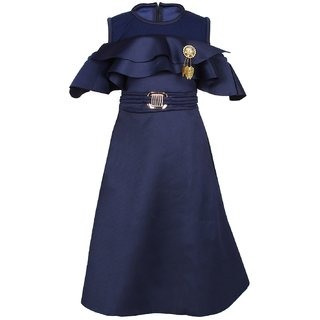 Arshia Fashions Girls Navy Party Wear Dress