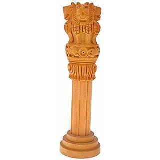 Pinkcity Handicrafts Wooden Ashok Stumbh Pillar 5 INCH