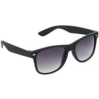 HRINKAR Men Grey Mirrored Wayfarer Full Rim Sunglasses