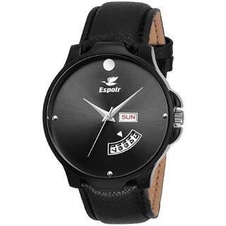 Analog Quartz Black Dial Round Men's Watch
