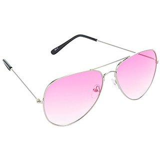 a8ec17bfbd7a9 Buy HRINKAR Men s Pink Mirrored Aviator Sunglasses Online - Get 79% Off