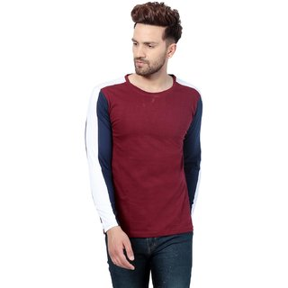 0b329dfd6ac51 Buy PAUSE Multicolor Solid Cotton Round Neck Slim Fit Full Sleeve Men s T-Shirt  Online - Get 64% Off