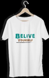 Style Vastra Belive White Round Neck T-shirt For Men's