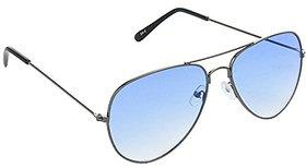 HRINKAR Men's Blue Mirrored Aviator Sunglasses