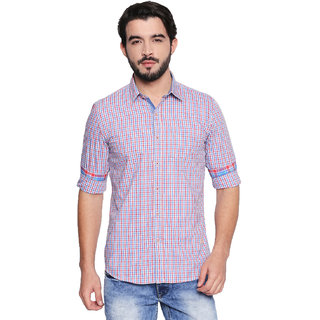 Jeaneration Multicoloured Cotton Spread Collar Shirt for Men