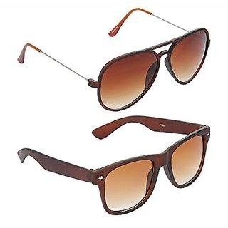 cf72cdb7d4e4 Buy HRINKAR Men s Brown Mirrored Aviator Sunglasses Online - Get 79% Off