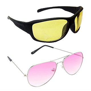 c4f5cafbf6 Buy HRINKAR Men s Yellow Mirrored Sports Sunglasses Online - Get 79% Off