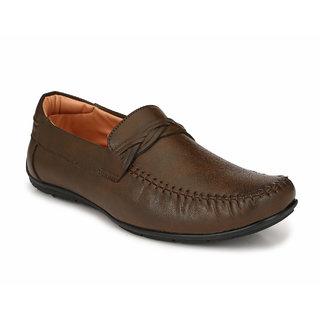 Fentacia Men Brown Formal Slip-ons