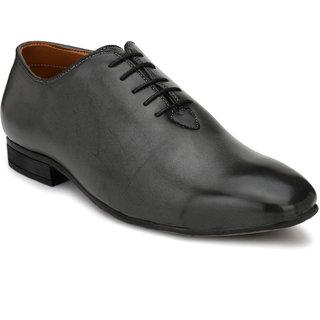 Fentacia Men Charcoal grey Formal Oxfords