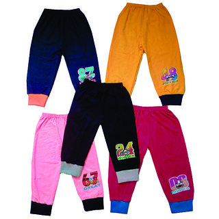 Om Shree Girls Rib Pant Pack of 5