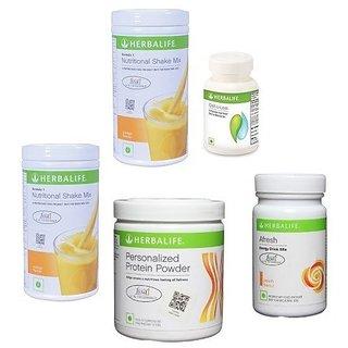 Herba life Weight Loss Program (2 F1 Mango + 1 F3 Protein + 1 Afresh Lemon + 1 Cell U Loss )
