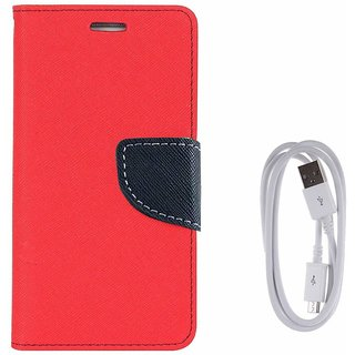 oppo f3 Luxury Magnetic Lock Diary Wallet Style Flip Cover Case for  + Data Transfer  Charging Cable  for oppo f3