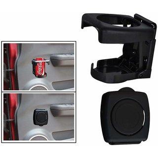 Autonext Foldable Car Drink/Can/Glass Bottle Holder Black Set of 2 for Mercedes Benz CLA
