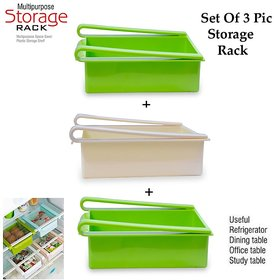 Dhyan Refrigerator Fridge Storage Rack Freezer Shelf Holder (Set Of 3)