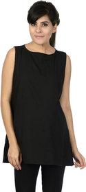 Infinait Women's Maternity Black cotton blend Top