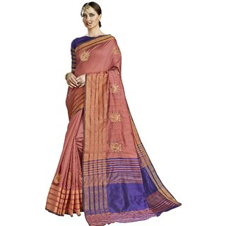Aagaman Pink Art Silk Festive Wear Embroidered Saree