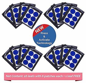 Mosquito Repellent Patches for kids - Pack of 96(+6 Free) BABY BLUE Color Mosquito Patches