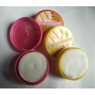 COLOR 18 Nail Paint Remover Pads - Set Of 3