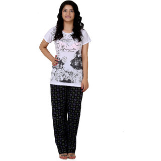 73f83fb2e01 Buy Glossia Printed Cotton Night Suit For Women Girls (Size Fit 30 inch  upto 36 inch) Online - Get 46% Off