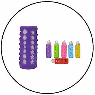 Safe-O-Kid - Pack of 8-Trendy Cover Baby Feeding Bottles Safety for Breakable Glass Bottles- (Medium)