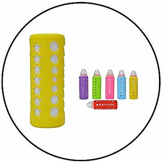 Safe-O-Kid - Pack of 4-Trendy Cover Baby Feeding Bottles Safety for Breakable Glass Bottles- (Large)