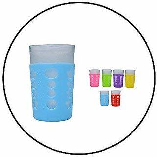 Safe-O-Kid - Pack of 4-Trendy Cover Baby Feeding Bottles Safety for Breakable Glass Bottles- (Small)