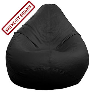 Home Berry L Size Black Color Classic bean bag cover( without beans)