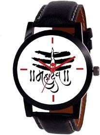 KAJARU 113 MAHADEV WHITE DIAL ANALOG WATCH FOR MEN AND