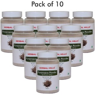 Herbal Hills Punarnava Powder - 100 gms (Pack of 10)