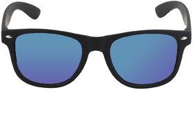 David Martin  Blue Mercury/Mirrored (UV 400 Protection) Stylish Unisex Wayfarer Sunglass-Rubber Finish