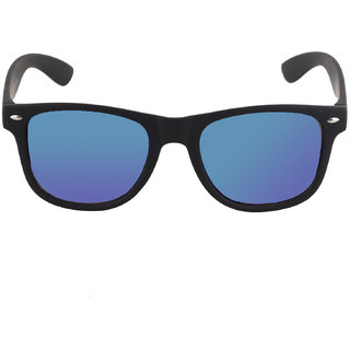 125fe1cdac99 Buy David Martin Blue Mercury Mirrored (UV 400 Protection) Stylish Unisex  Wayfarer Sunglass-Rubber Finish Online - Get 89% Off