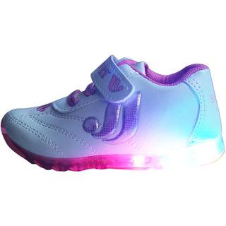 LNG Lifestyle Led Lights Shoes Boy Girls Velcro (LNG-53Pink)