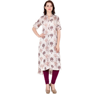 Fabster Women's smart fit  straight multi Color Kurti