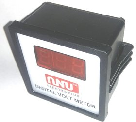 Digital AC Voltmeter 60-500V, Digital LED Voltmeter Panel  With Back Side Nut Bolt Clamp,You Can Use In Home.......etc