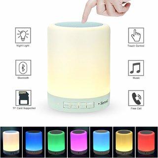 Rodex Table Night Lamp Portable Smart Touch Sensor Wireless Bluetooth Speaker