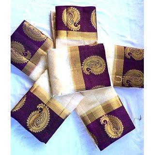 Fab Brand Multicolor Kanjivaram Tussar Silk Saree