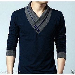 Redbrick navy blue ful sleeve t shirt