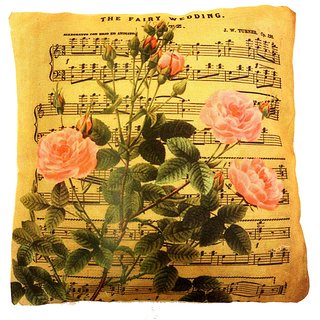Home Fashion Jute Digital 3D Print Cushion Cover 16X16 1 Piece/musical flowers