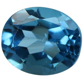 Natural Blue Topaz Stone 3 Ratti (2.73 carats) Rashi Ratna Origional and Certified by GEMOLOGICAL LABORATORY OF INDIA (GLI) Precious Gemstone Unheated and Untreated Top Quality Gems for Astrological Purpose