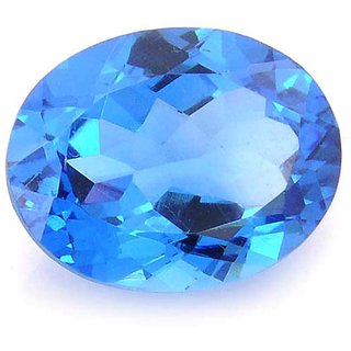 Natural Blue Topaz Rashi Ratna 3 Ratti (2.73 carats) Stone Origional and Certified by GEMOLOGICAL LABORATORY OF INDIA (GLI) Precious Gemstone Unheated and Untreated Top Quality Gems for Astrological Purpose