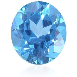 Natural Blue Topaz Gemstone 3 Ratti (2.73 carats) Rashi Ratna Origional and Certified by GEMOLOGICAL LABORATORY OF INDIA (GLI) Precious stone Unheated and Untreated Top Quality Gems for Astrological Purpose