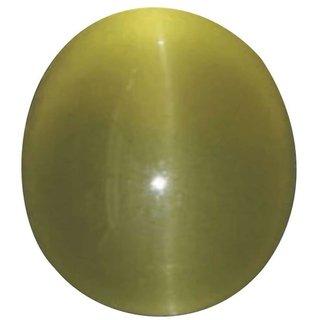 Natural Cats Eye Stone 3 Ratti (2.7 carats) Rashi Ratna Origional and Certified by GEMOLOGICAL LABORATORY OF INDIA (GLI) Lehsuniya Precious Gemstone Unheated and Untreated Top Quality Gems for Astrological Purpose