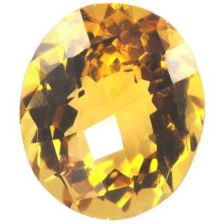 Natural Citrine Stone 6 Ratti (5.5 carats) Rashi Ratna  Origional and Certified by GEMOLOGICAL LABORATORY OF INDIA (GLI) Sunhela Precious Gemstone Unheated and Untreated Top Quality Gems for Astrological Purpose
