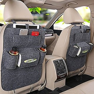 BANQLYN 2 x Car Back Seat Organizer Storage Bag Multi Pocket Car Felt Covers Seat Covers Protective Car Covers for Car Seats 1