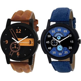idivas 4LR-01-02 Lorem Combo Latest Designing Stylist Analog Combo Watch For Men