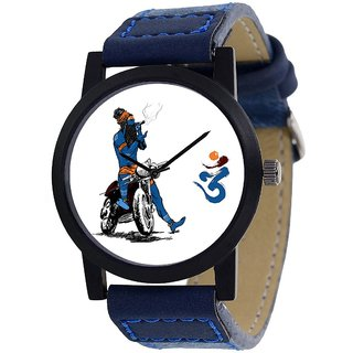 idivas4 Blue Synthetic Strap White Dial Analog Watch For Men 6 MONTH WARRANTY